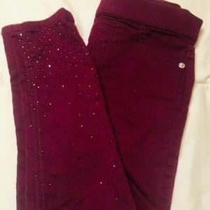 💕Justice Rhinestone Jeggings size 12💕